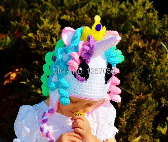 Custom Made Crochet Photography Props Princess My Little Pony Hat
