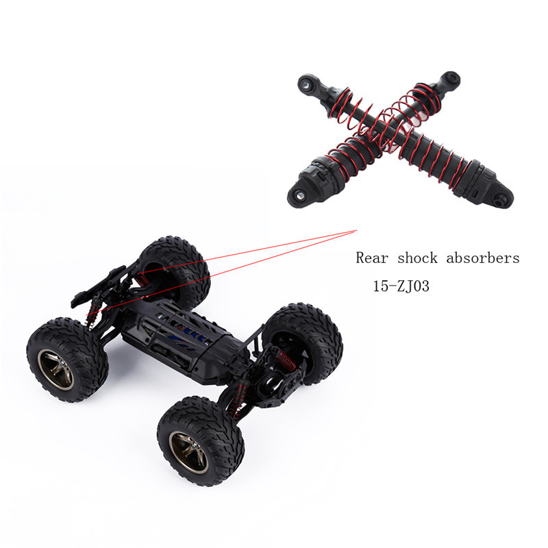 Hot 1 Pair of 15-ZJ03 Rear Shock Absorbers Car Parts for S911/S912 RC Car Models Racing RC Car HSP Off Road Monster Truck 1 pair boom racing boomerang i type built in spring avoid damping brsi 0120b shock absorber for rc car free shipping