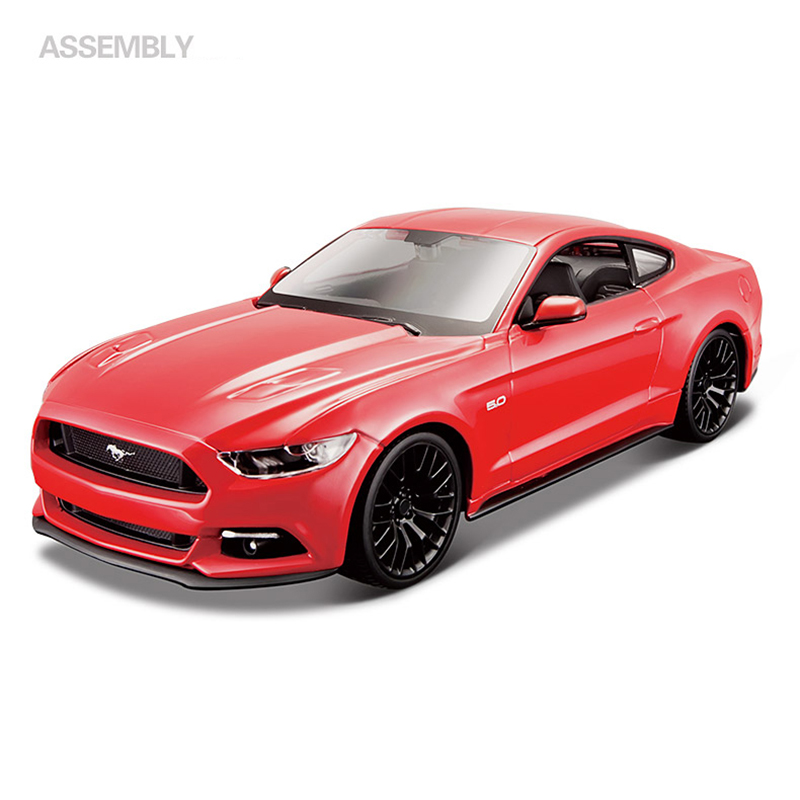 Maisto Assembly model Car Mustang BOSS 302 GT Street Racer 1:24 Alloy Toy Vehicle Diy Block Car Model Toy For Gift Collection 2011 ford mustang boss 302 red 1 24 by maisto 31269