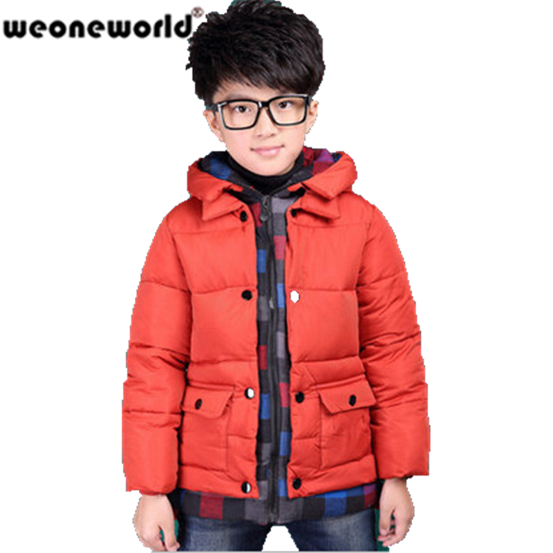 Weoneworld Hot Sale Boys Winter Jacket Fashion Kids Hooded Winter Coat Thick Children Down Parkas High Quality Outwear For Boys In Down Parkas From Mother