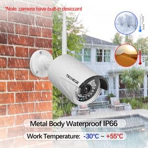 Image 5 - Techege 4CH Surveillance 1080P NVR 1080P WIFI caméra IP 2.0MP kit Audio sans fil caméra WiFi système de vidéosurveillance P2P système de vidéosurveillance