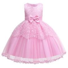 Sleeveless Sequins Girl Show Dress Baby Girls Age Wedding Bow Mesh Gauze Princess Dress Sweet Girls Elegant Dress Vestidos недорого
