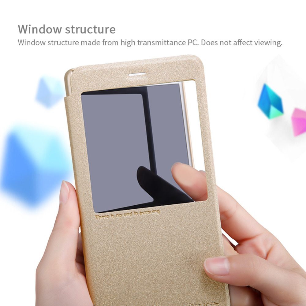 Original Nillkin Sparkle Flip Luxury PU Leather Case For Xiaomi Redmi note 4X 5.5inch Phone Bag Fundas Cover for Redmi Note 4X