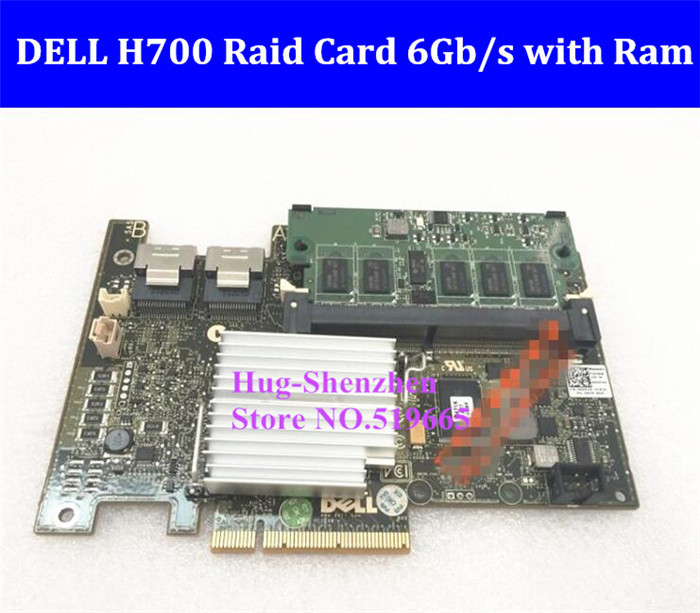 For DELL PERC H700 Array Raid Card Motherboard PCI-E 8X 6Gb/s RAID 0156105060 with 1G RAM XXFVX W56W0 support 3T 4T SSD батарея для ибп sven sv121000 12в 100аh sv 012267