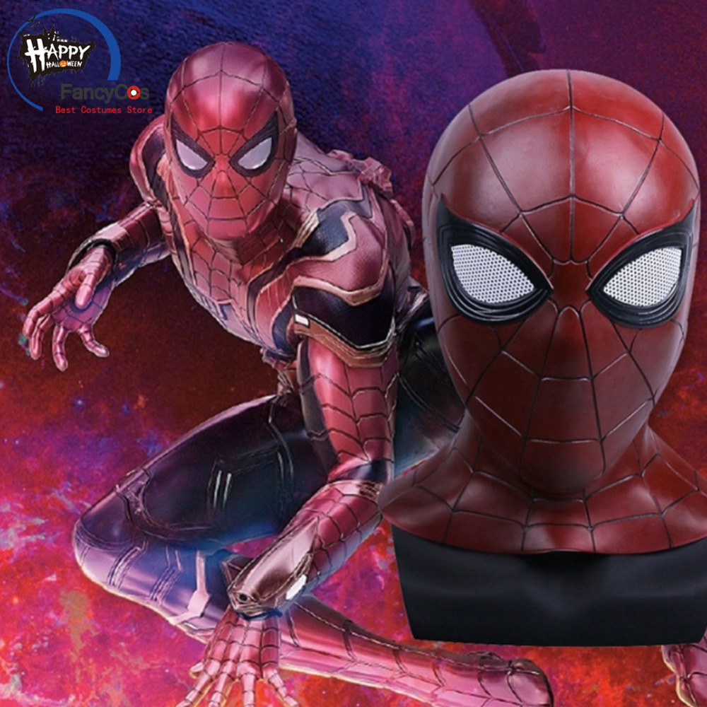 Avengers Infinity War Spider-Man Peter Parker Mask Cosplay Helmet Halloween Latex Mask Props Gifts Mask High Quality