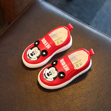 Free shipping new 2016 autumn girls princess shoes soft bottom baby shoes cartoon casual 3 colors Size 6.5-12.5