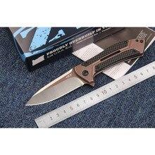 ZT0801CF ball bearing Folding Knife 9cr18m blade Carbon Fiber handle Camping Hunting Survival Kitchen Knives Outdoor EDC tools