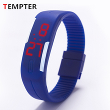 2017 Silicone LED kids Watches Date Bracelet Digital Sports Wristwatch for student Candy Color Men's Women's Watch Reloj Hombre