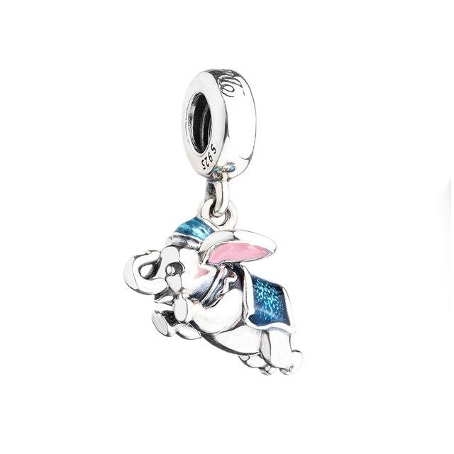 Real 925 sterling silver beads dumbo elephant dangle pendant charm real 925 sterling silver beads dumbo elephant dangle pendant charm fit original pandora bracelets bangles aloadofball Gallery
