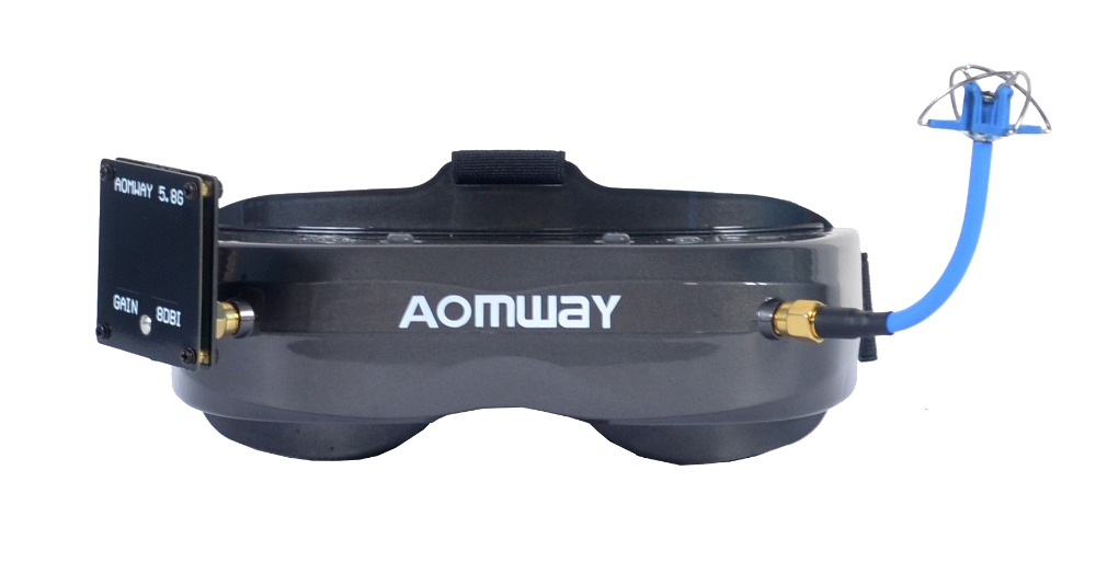 New Hot Aomway Commander Goggles V2 3D 5.8G 64Ch 1080P 800*600 SVGA FPV Video Headset Support HDMI DVR FOV 45 For RC Model - 3