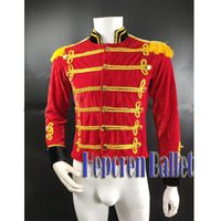 Custom Made Men Boys Ballet Tunic Jacket Many Colors Available,Velvet Military Prince Professional Ballet Top Costumes Outwear