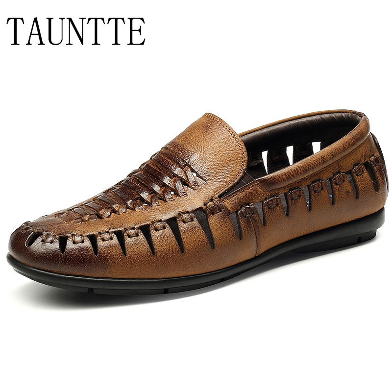 Summer Breathable Men Loafers Luxury Qaulity Genuine Leather Formal Shoes Crocodile Pattern Casual Shoes branded men s penny loafes casual men s full grain leather emboss crocodile boat shoes slip on breathable moccasin driving shoes