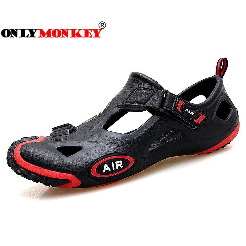 ONLYMONKEY 38-45 Fashion Men Sandals Summer Comfortable & Breathable Men Casual Shoes Hook Loop Footwear Men Sandals Big Size
