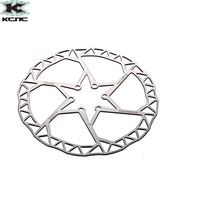 One Pair (2 pieces) KCNC Razor Stainless disc rotor 140mm 160mm or 180mm 6 bolt 62g 73g 95g superlight