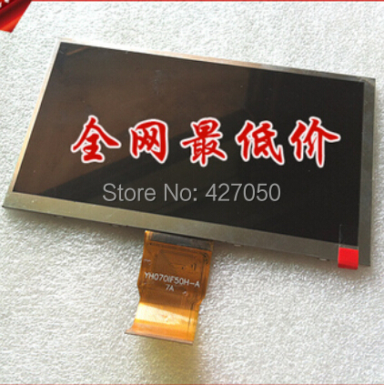 New LCD Display Matrix 7 TABLET YH070IF50H-A 165*100mm 1024*600 LCD Screen Panel Replacement Module Viewing Frame Free Shipping ^ a lcd display matrix for 7 supra m72kg tablet inner 30pins 1024 600 lcd screen panel lens frame replacement