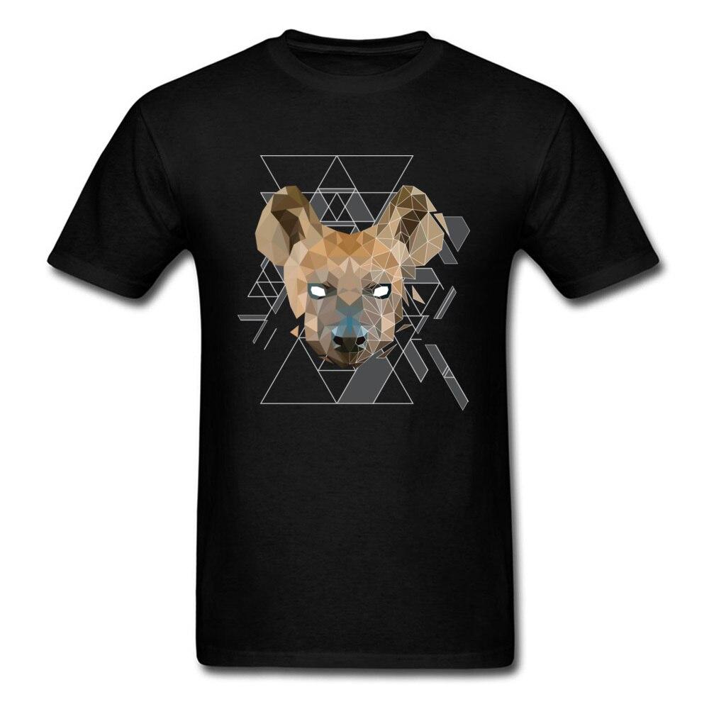 Geometrik sırtlan erkekler T Shirt baskı kısa kollu moda tişört % 100% pamuk yaban hayatı kurt t-shirt 3D güçlü Beast tshirt
