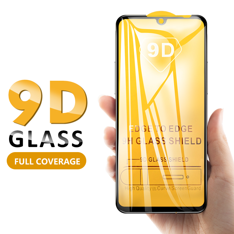 9D Tempered Glass For Xiaomi Redmi 8 Note 8 8T Note 7 Pro 6 Pro 5 Plus Note 8 Pro 6A Full Cover Screen Protector Curved Glass