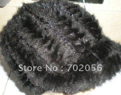 Mink Hat Skullies Knitted HAT Women Winter LUXURY#2295