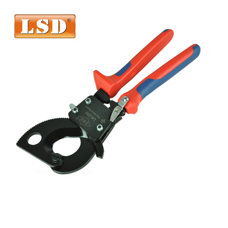 ratchet cable cutter for cable cutting Cu/Al cable and wire max 240mm2 LK 250,electric wire cutting plier-in Pliers from Tools    1