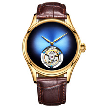Top Brand Luxury Mens Automatic Mechanical Watch Sapphire Crystal Mirror Original Tourbillon Hollow Clock