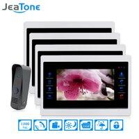 7 Inch 1 To 4 Video Door Phone Intercom Door Bell On Door Speaker Hands Free