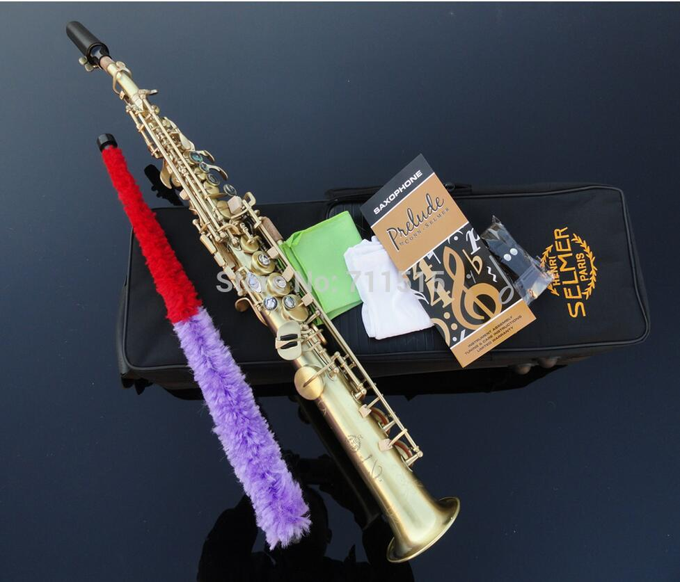 Fast Shipping France Henry Reference 54 Straight Soprano Saxophone Saxofone Instrumentos Musicales a Set with Nylon Box italian berlitz reference set