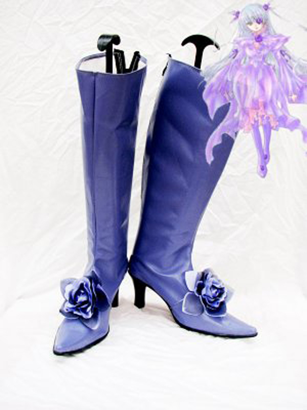 Rozen Maiden Cosplay Barasuishou Purple Cosplay Boots Shoes Anime Party Cosplay Boots Custom Made Women High Heel Shoes