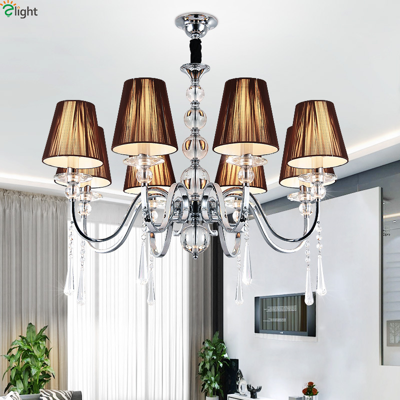 Modern Lustre Crystal Led Chandeliers Lighting Chrome Metal Living Room Led Pendant Chandelier Light Led Hanging Lights FixturesModern Lustre Crystal Led Chandeliers Lighting Chrome Metal Living Room Led Pendant Chandelier Light Led Hanging Lights Fixtures
