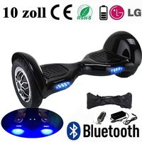 10 inch Smart Drifting Scooter Self Balance Board Two Wheels Electric Scooter Hoverboard with Bluetooth LED Light Remote Key