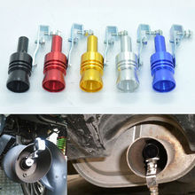 Universal Car Turbo Sound Whistle Exhaust Muffler Pipe 23mm Fake Blow-off Valve Simulator Whistler Car Exhaust Muffler Whistle turbo sound exhaust muffler pipe whistle blow off bov simulator whistler silver size l