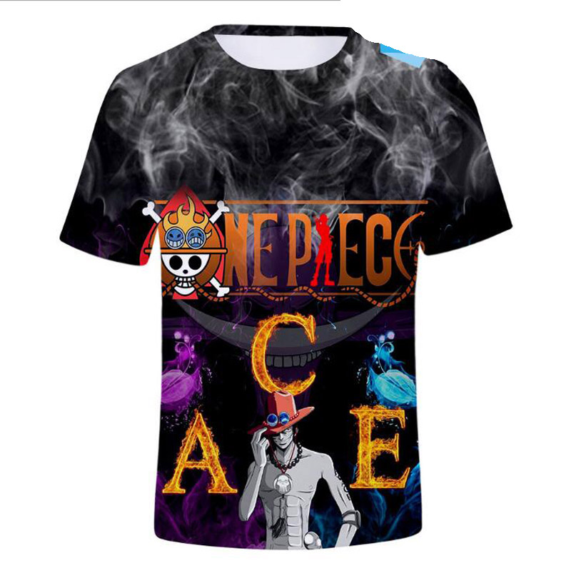 Hip Hop Fashion Brand Clothing One Piece 3D T Shirt Casual Short Sleeve Men's T-Shirts Japan Anime The Pirate King Graphic Tees