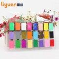 12/18/24 colores Soft Polymer Arcilla moldeable con herramienta juguetes educativos especiales plastilina bricolaje horno playdough