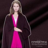 Chestnut Purple Cashmere Fabric Swiss Order Wool Fabric Thicker Coat Cashmere Wool Fabric wholesale cashmere cloth