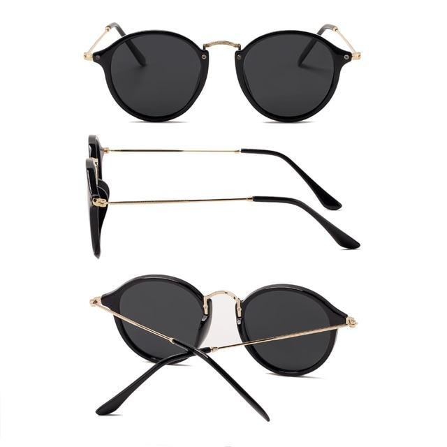 Gafas de sol redondas con revestimiento Retro Para hombre y mujer, anteojos de sol de marca de diseñador, gafas espejadas Vintage, novedad 2