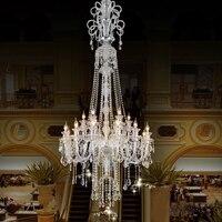 Large Candle Chandelier Big Chandelier Luxury Crystal Chandeliers Star Hotel Candle Holder Modern Large LED Chandelier