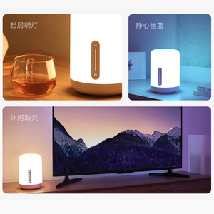 Image 5 - Xiaomi Mijia Bedside Lamp 2 Xiaoai Clock Smart LED Bedroom Night Colorful Desk Light Voice Control Switch for Homekit Mihome APP