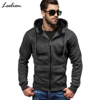 LeeLion Spring Hoodies Men Zipper Cardigan Sweatshirts