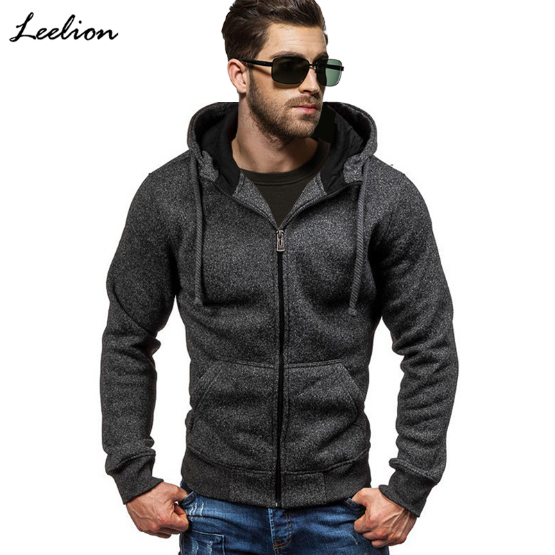 IceLion 2019 Spring Hoodies Men Zipper Cardigan Sweatshirts Long Sleeve Slim Fit Cotton Sportswear Mens Solid Casual Tracksuit