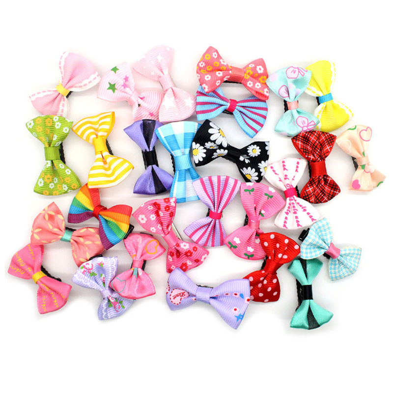 Hairpin Bow Small Sweet Korean-Version Children Cute Mixed-Ribbon Kids Hot Cloth Duckbill