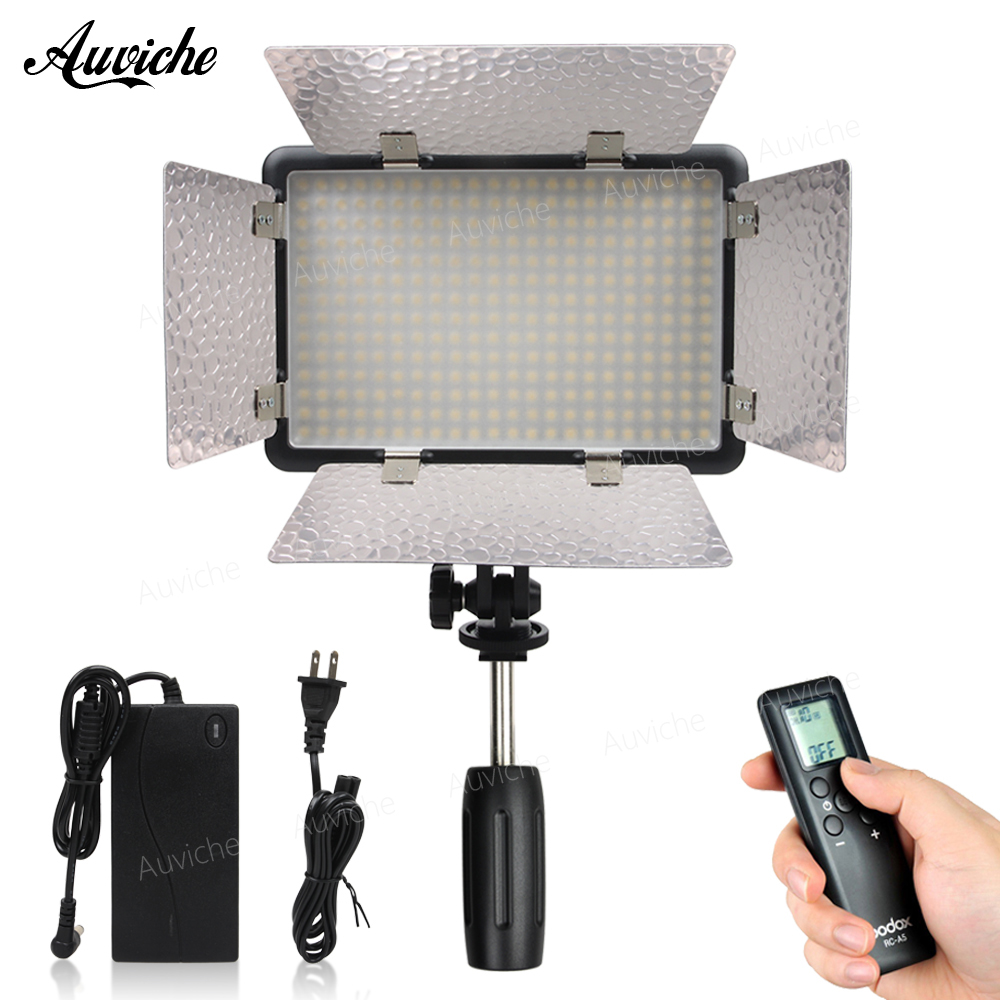 Godox LED308IIC 3200-5600K LED Video LED light Fill Light with Power adapter for DSLR Camera Camcorder DV for Wedding Interview godox led 308y 308 leds professional led video 3300k light with remote control for canon nikon camera dv camcorder