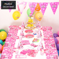 Princess Crown Theme Girl birthday party decoration kids party supplies set disposable tableware set 1set/lot