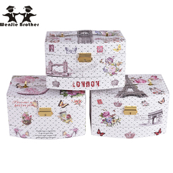 wenjie brother 2016 New design design Make up Box Makeup Case Beauty Case Cosmetic Bag Multi Tiers Lockable Jewelry Box