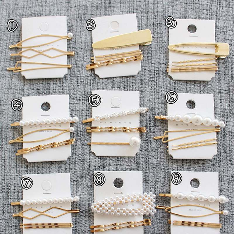 3 4 5Pcs Pearl Hair Clips Women Hairpin Girls Hairpins Barrette Bobby Pin Hairgrip Hair Accessories Dropship Ins Hot Sell New in Hair Jewelry from Jewelry Accessories