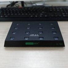 Nice designed USB 3 0 16 port hub External power adapter support handling several SSD disks