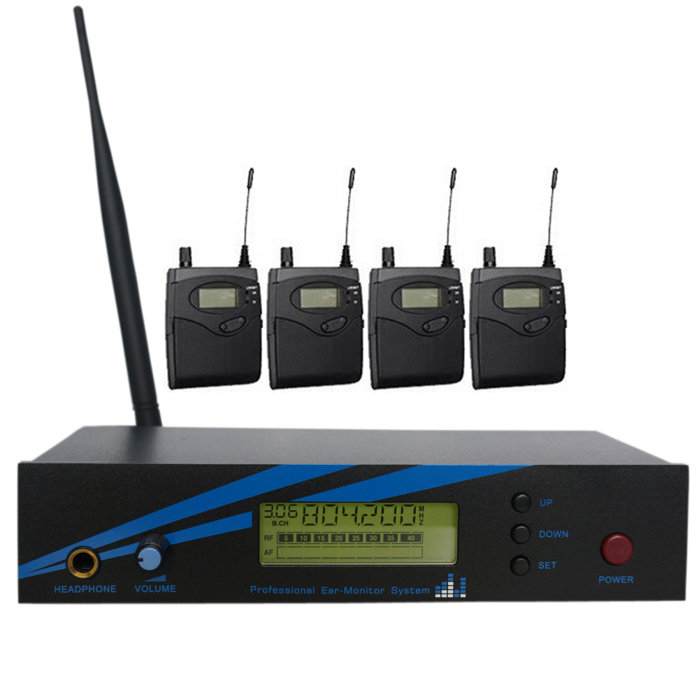 IEM 300G2 Wireless in-ear monitor system 1 Transmitter & 4 Receiver personal monitor wireless system Professional Sound System
