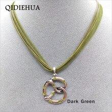 Unique Fashion Pretzel Pendant Necklaces For Women