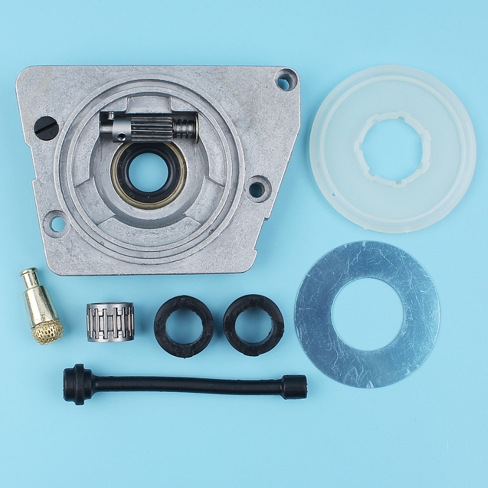 Oil Pump Dust Cover Filter Line Worm Gear Kit For Husqvarna 61 66 266 268 272 XP Chainsaw #501 51 25-01