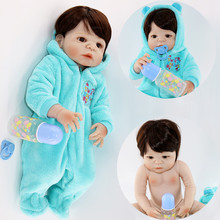 цена на Real alive 55cm Reborn Baby Dolls boy full Silicone bebe Reborn Stuffed Doll Lifelike Newborn Baby 24'' Kids Playmates bjd lol