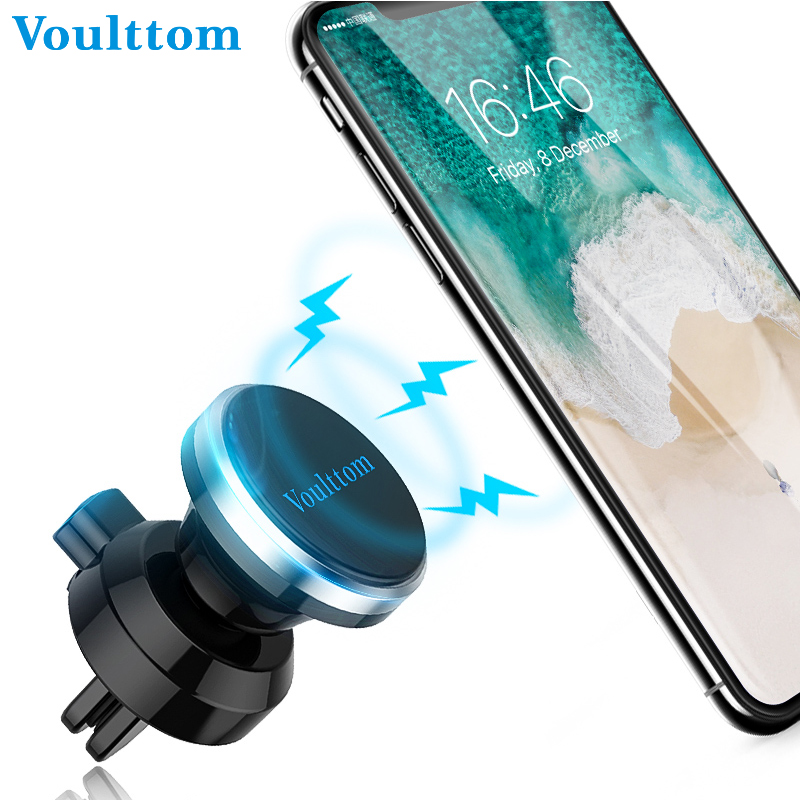Voulttom Car Phone Holder magnetic air vent phone holder car moun for iPhone Sumsang Xiaomi Huawei mobile phone holder in car