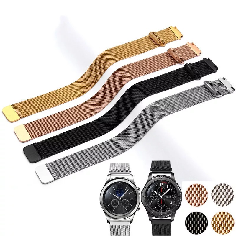 20MM 22MM band for Samsung Galaxy Watch Active 42mm 46mm Gear Sport S2 S3 Milanese Loop for Amazfit Bip 18mm huawei watch1 Strap(China)